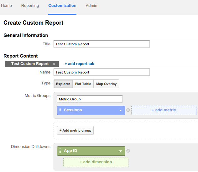 create custom report