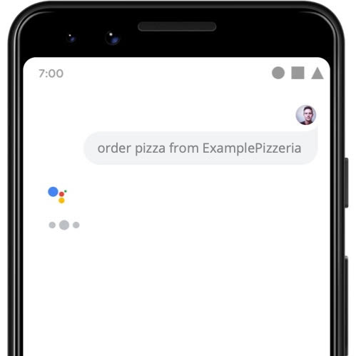 A user asks the Assistant to order a pizza from a restaurant.