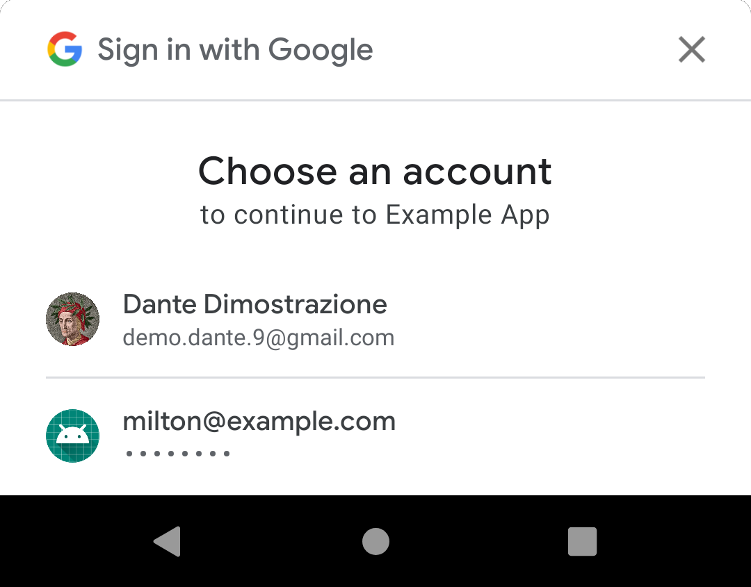 One-tap sign-in UI