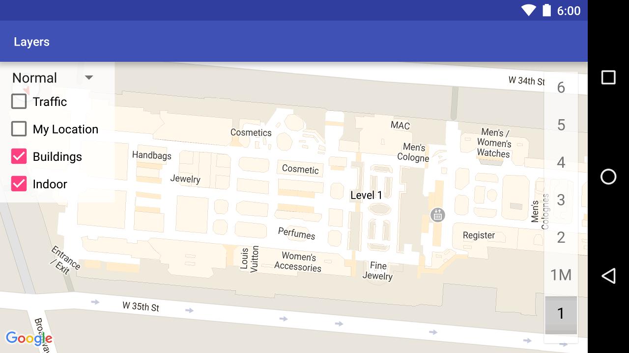 Ejemplo de mapa de interiores