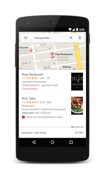 Searching for Restaurants in San Francisco