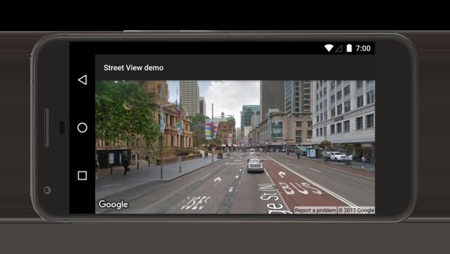 Demonstração do panorama do Street View