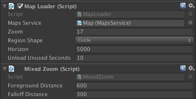 Mixed zoom script parameters