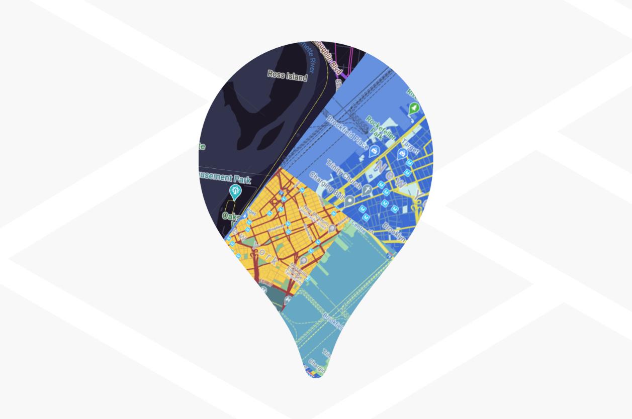 Estilo de mapas baseados na nuvem para Web