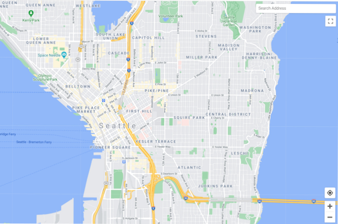 Vector map for JavaScript