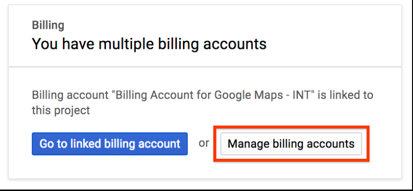Select the Billing page.