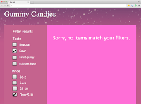 category page for gummy candies that are over $10