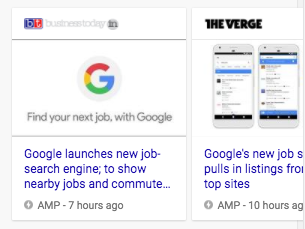 Top stories carousel in Search results