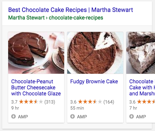 Host carousel in Search results