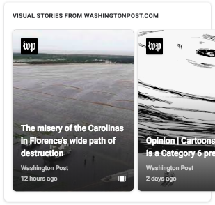 Visual stories in Search results