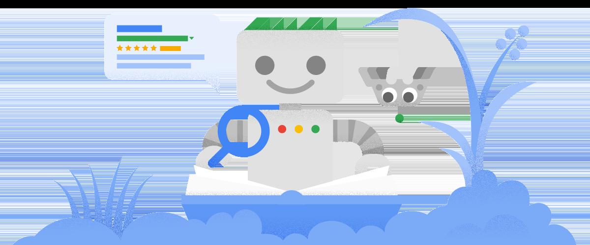 Googlebot 和網站。