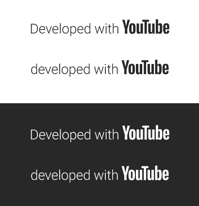 Developed with YouTube logos